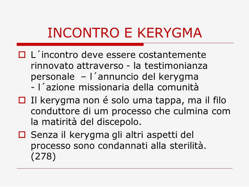 INCONTRO E KERYGMA