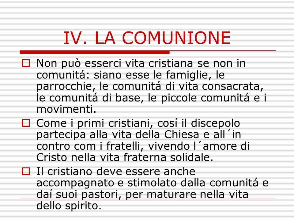 IV. LA COMUNIONE