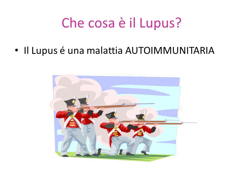 Che cosa è il Lupus Il Lupus é una malattia AUTOIMMUNITARIA