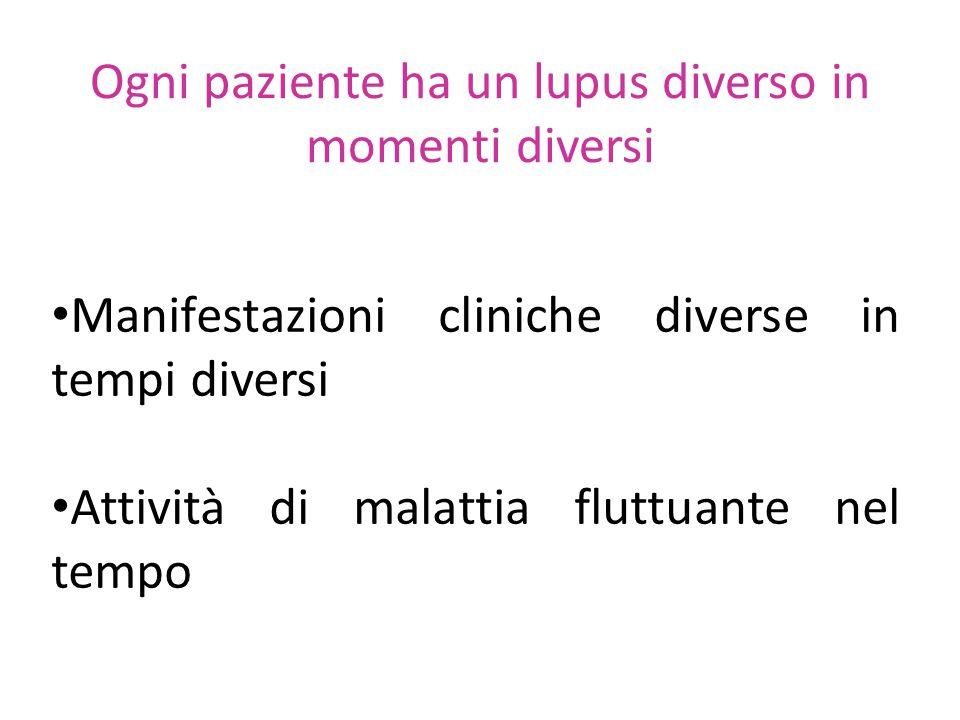 Ogni paziente ha un lupus diverso in momenti diversi