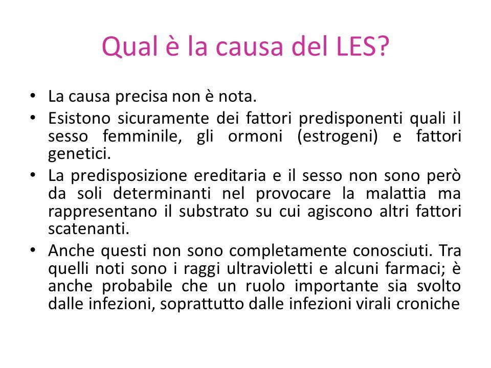Qual è la causa del LES La causa precisa non è nota.
