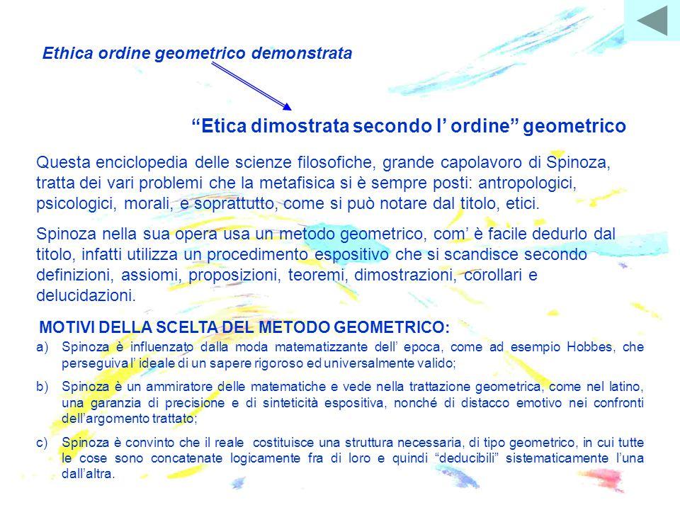 Ethica ordine geometrico demonstrata