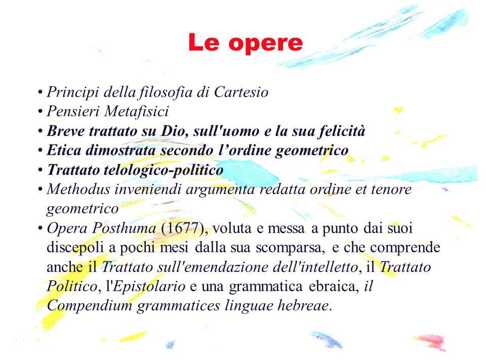 Le opere Principi della filosofia di Cartesio Pensieri Metafisici