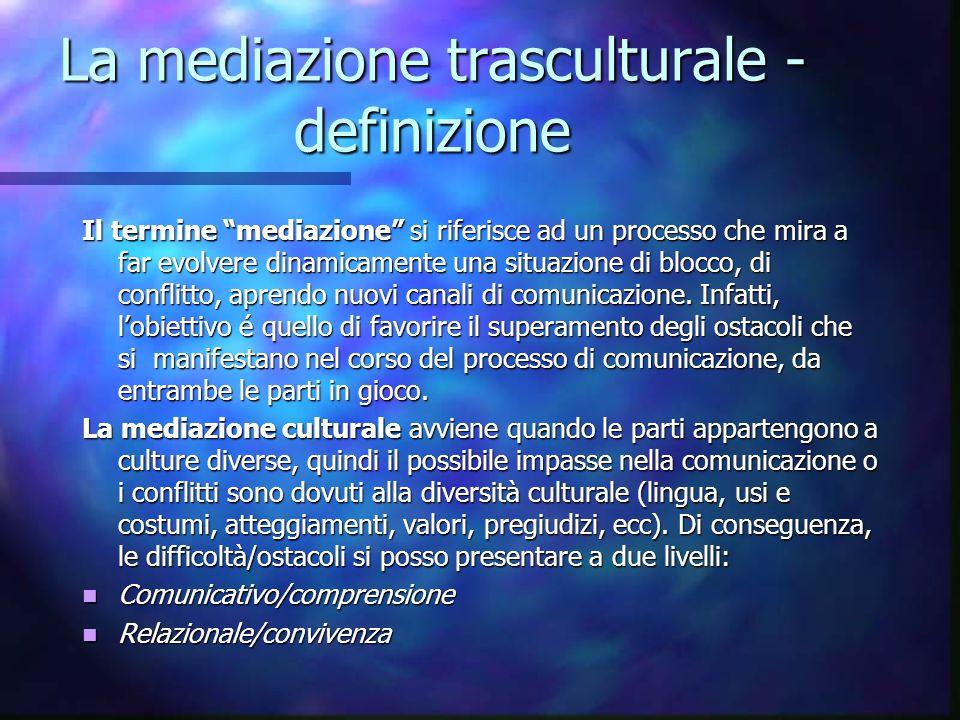 La mediazione trasculturale -definizione