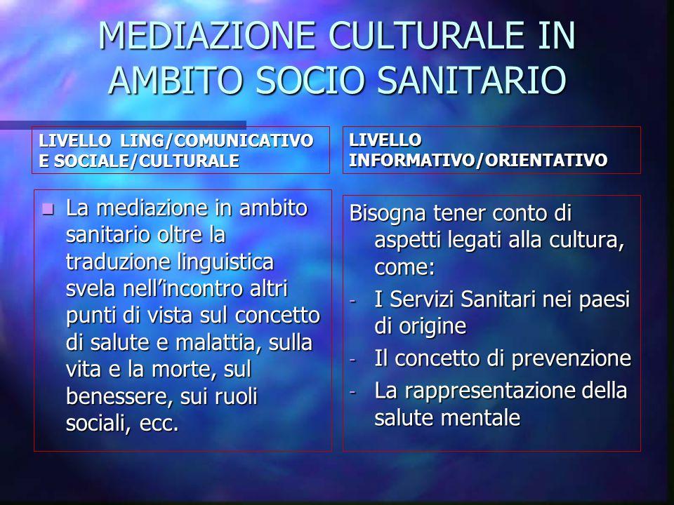 mediazione culturale in ambito socio sanitario
