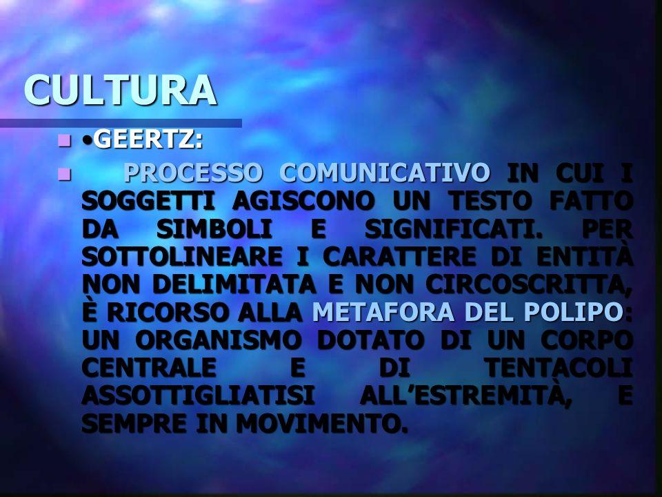 CULTURA •GEERTZ: