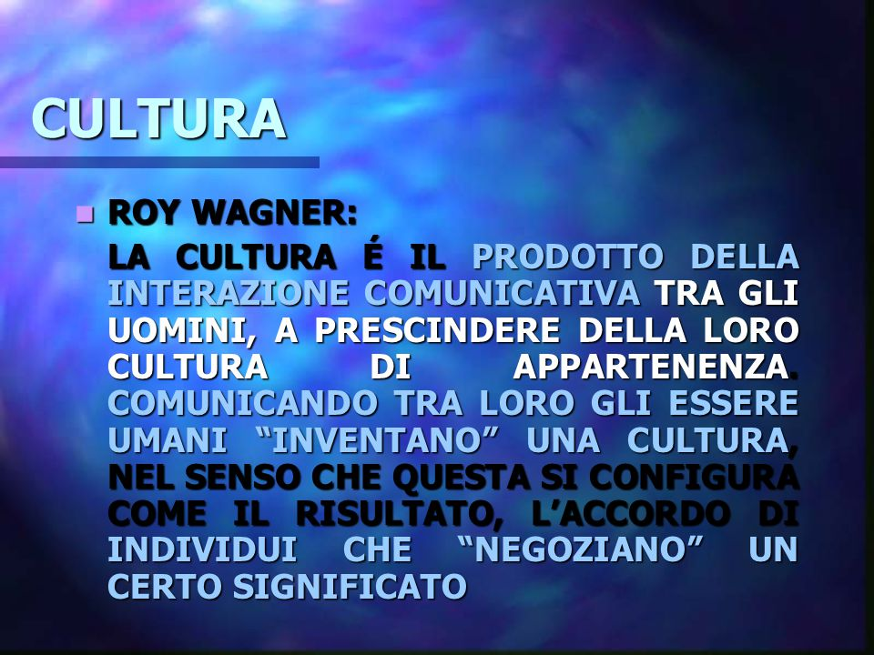 CULTURA ROY WAGNER: