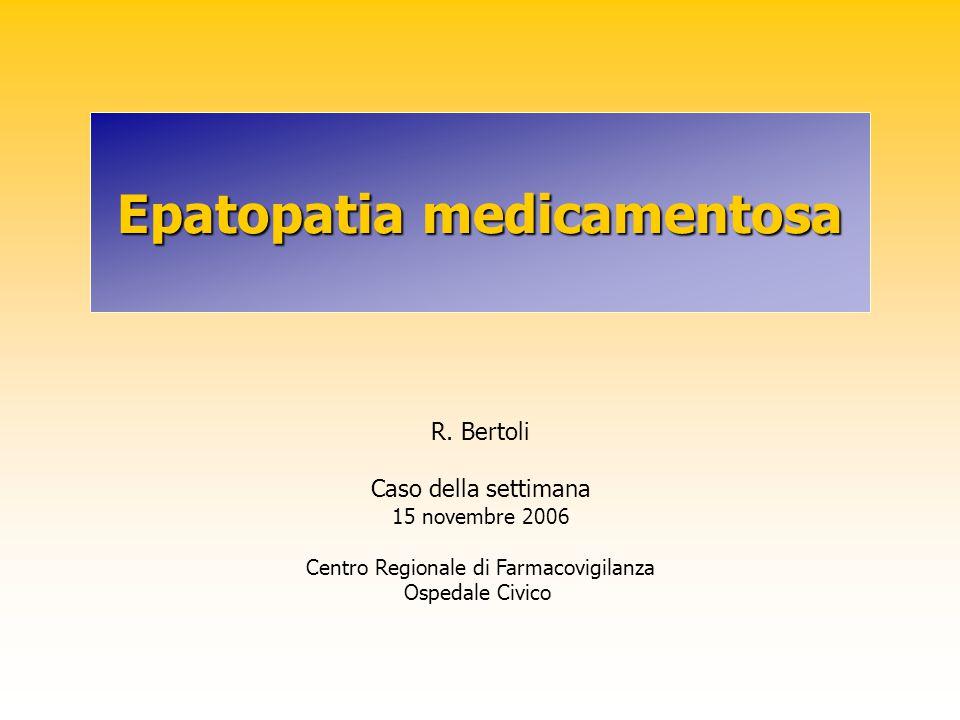Epatopatia medicamentosa