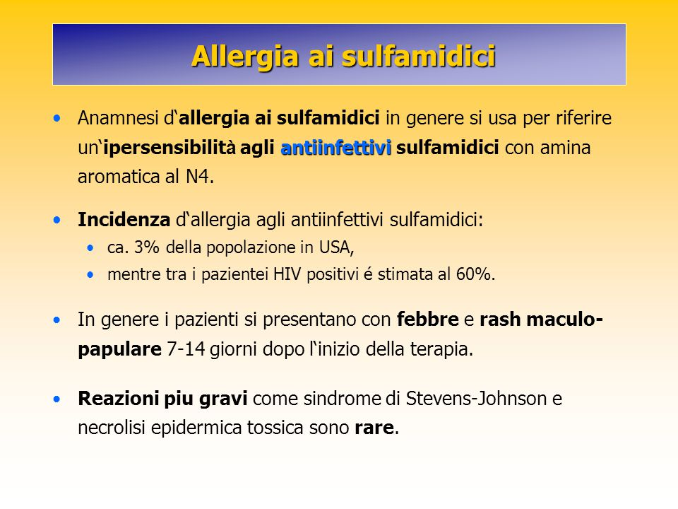 Allergia ai sulfamidici