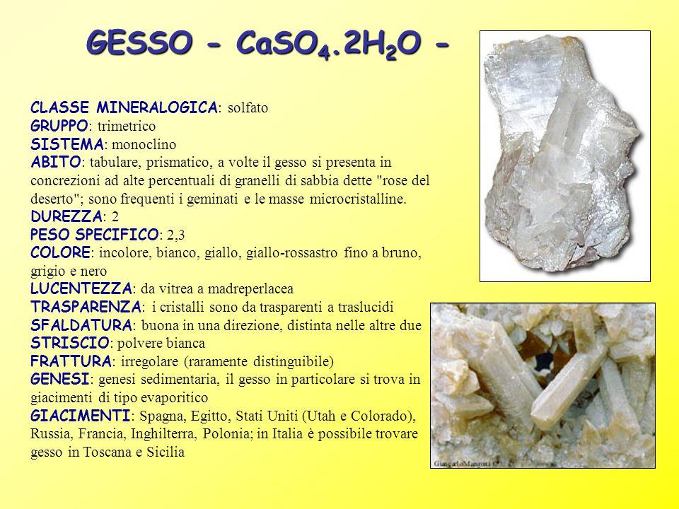 GESSO - CaSO4.2H2O -