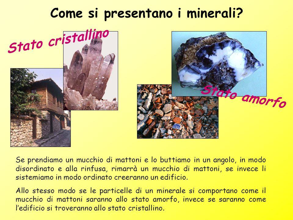 Come si presentano i minerali