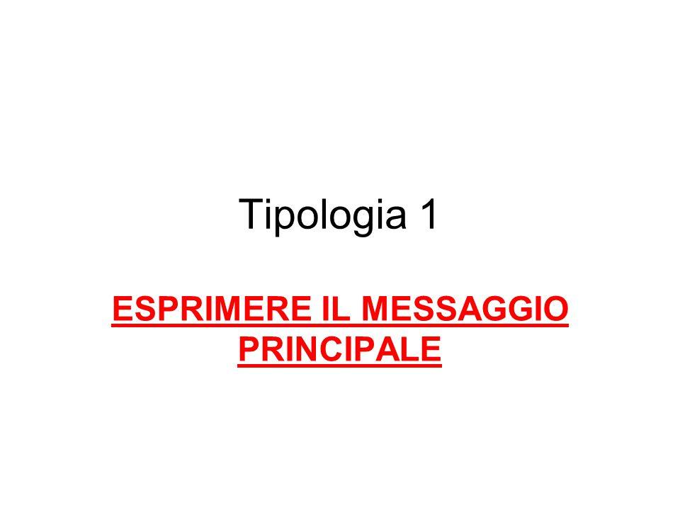 ESPRIMERE IL MESSAGGIO PRINCIPALE