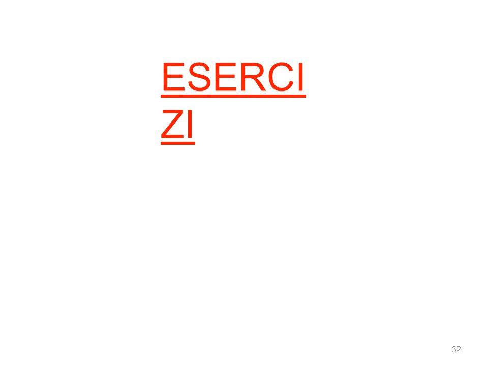 ESERCIZI 32