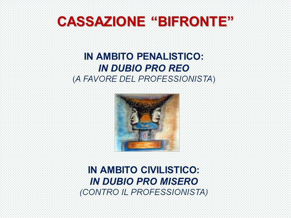 CASSAZIONE BIFRONTE