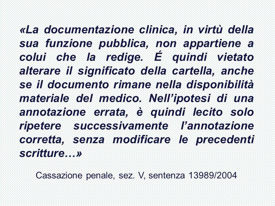 Cassazione penale, sez. V, sentenza 13989/2004