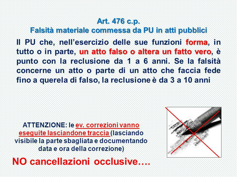 NO cancellazioni occlusive….