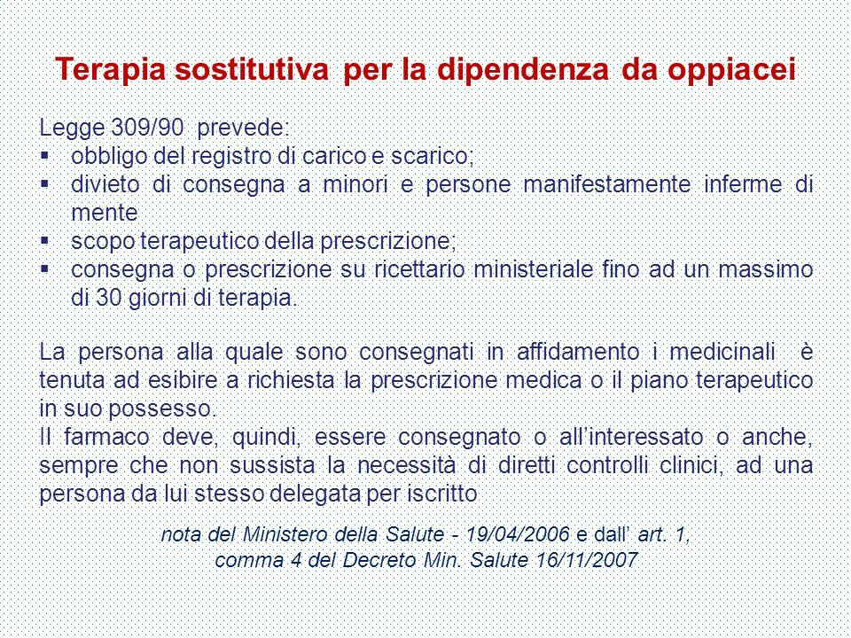 Terapia sostitutiva per la dipendenza da oppiacei