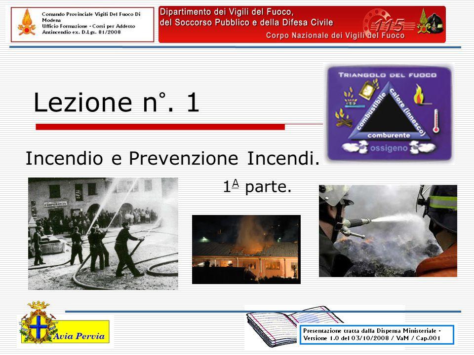 Incendio e Prevenzione Incendi.