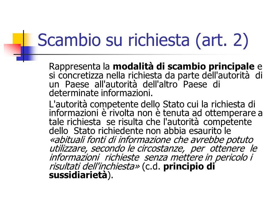 Scambio su richiesta (art. 2)