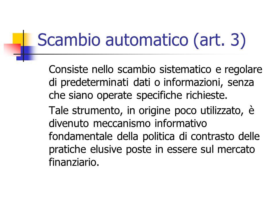 Scambio automatico (art. 3)