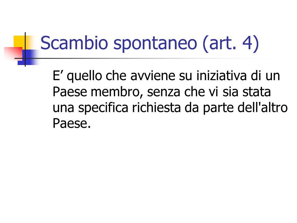 Scambio spontaneo (art. 4)