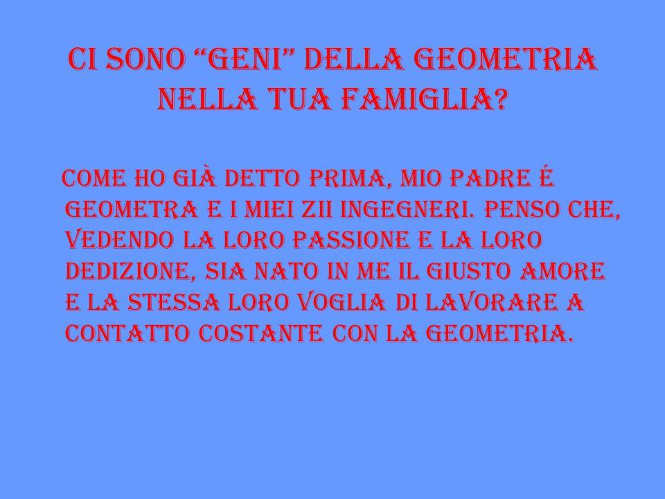 Ci sono geni della geometria nella tua famiglia