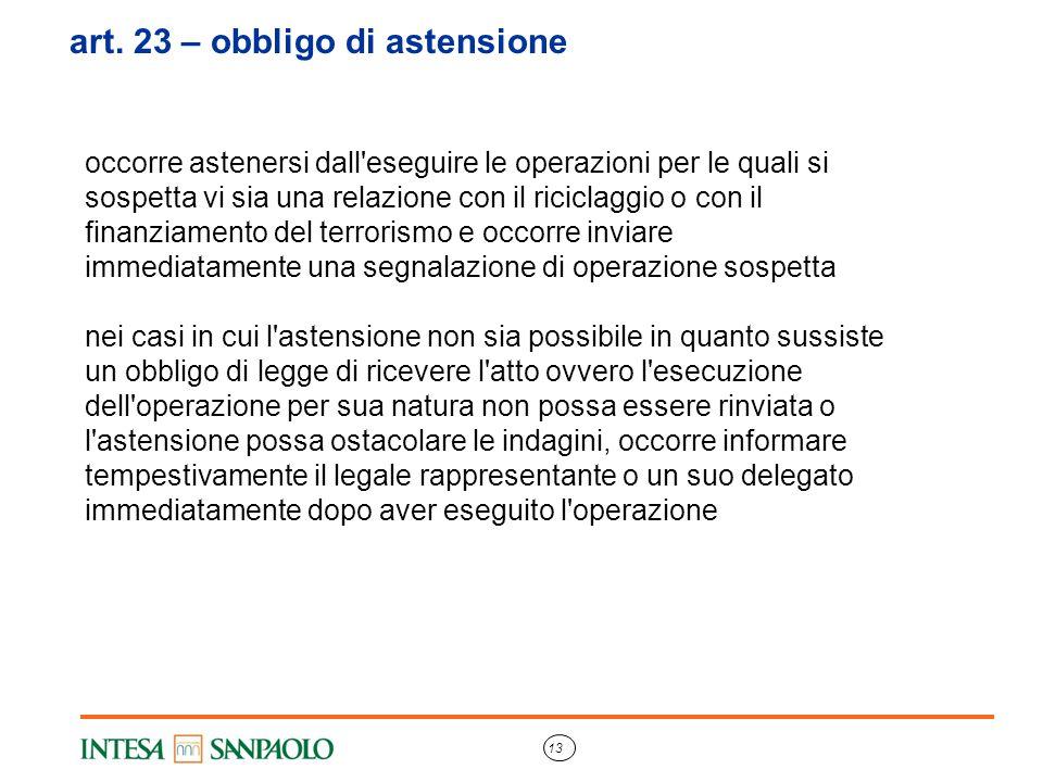 art. 23 – obbligo di astensione