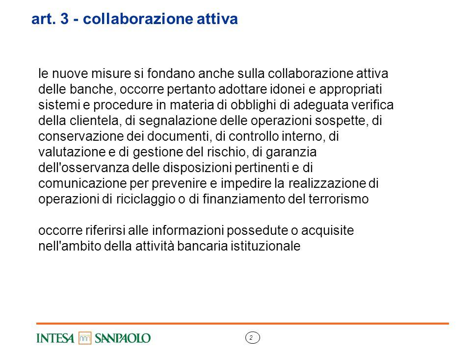 art. 3 - collaborazione attiva
