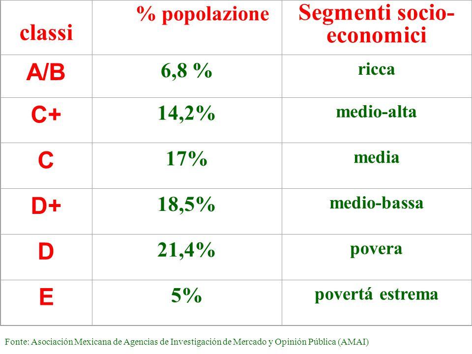 Segmenti socio- economici