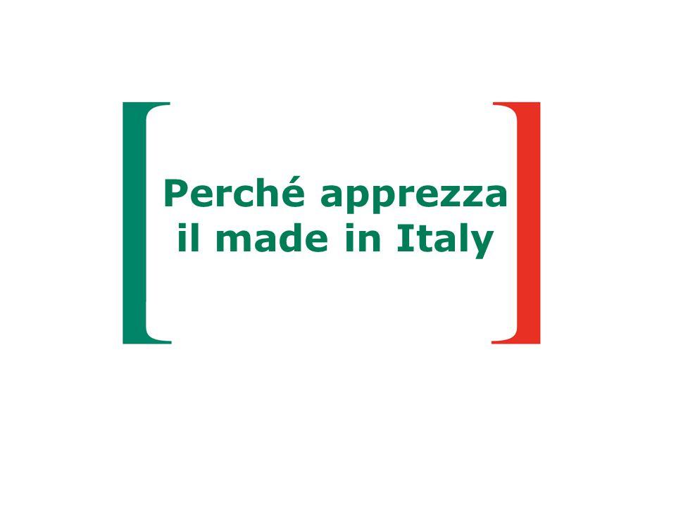 Perché apprezza il made in Italy