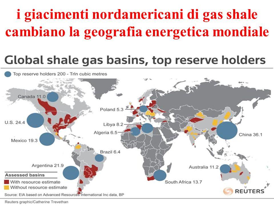 i giacimenti nordamericani di gas shale cambiano la geografia energetica mondiale