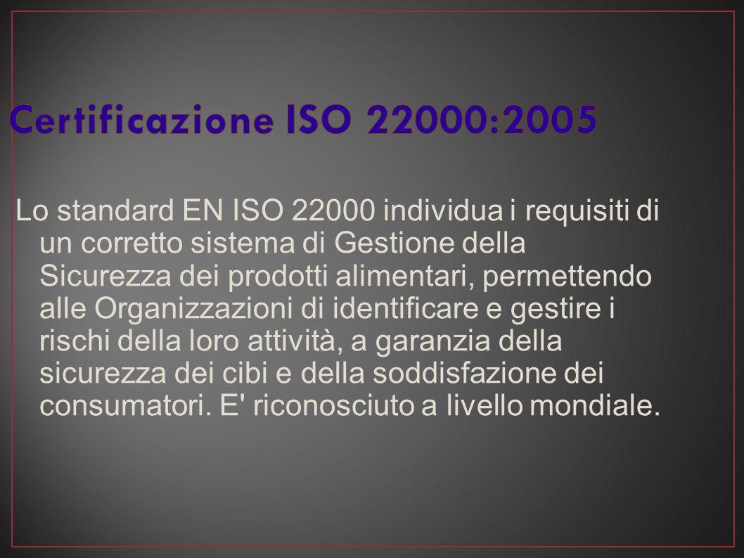Certificazione ISO 22000:2005
