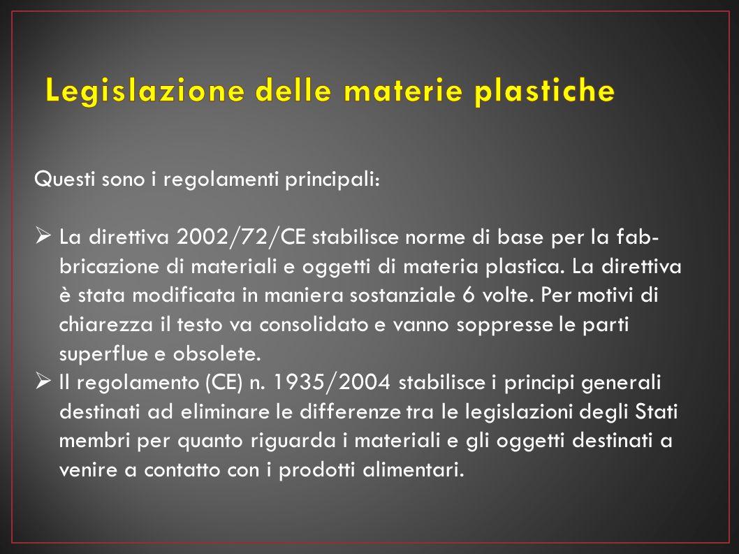Legislazione delle materie plastiche