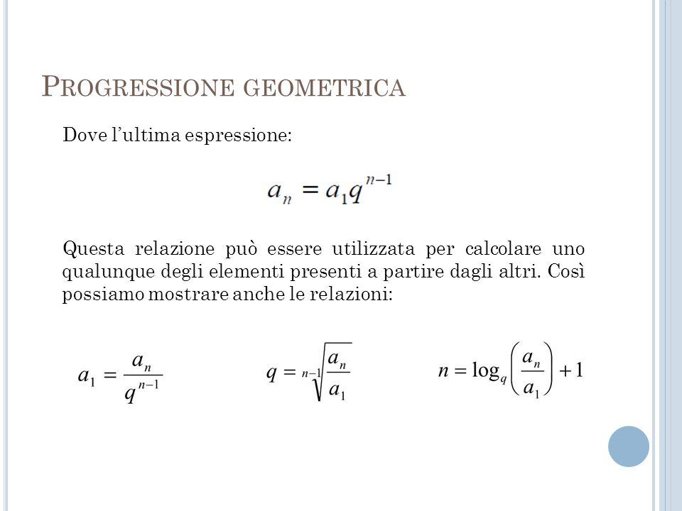Progressione geometrica