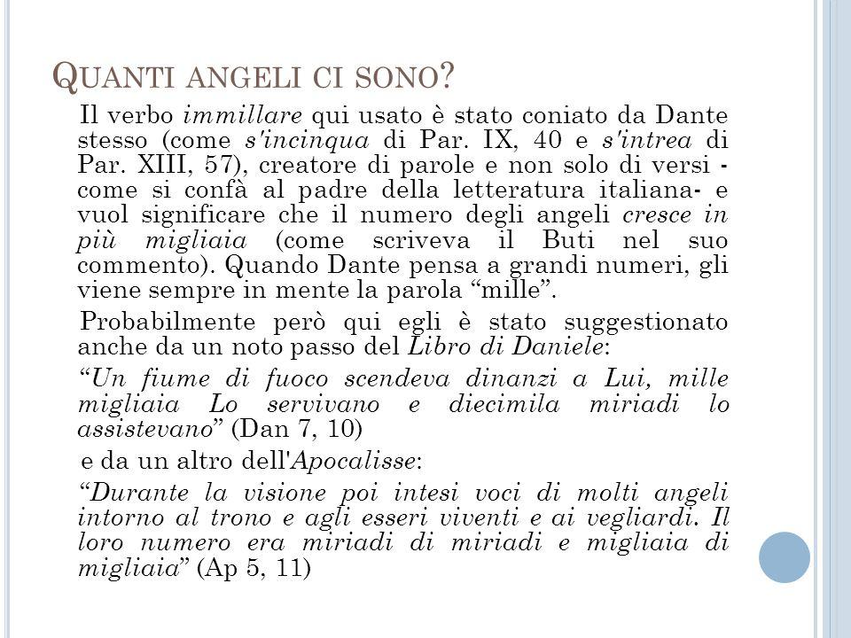 Quanti angeli ci sono