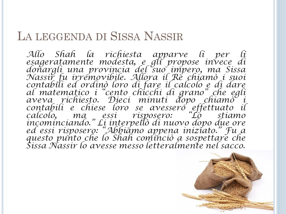 La leggenda di Sissa Nassir