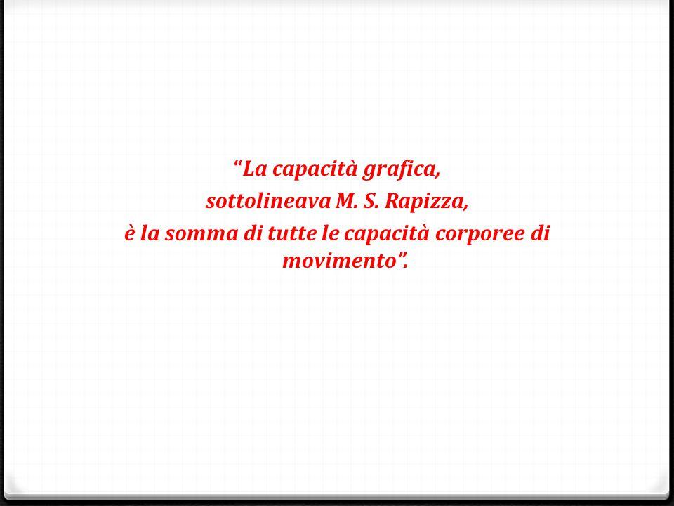 sottolineava M. S. Rapizza,