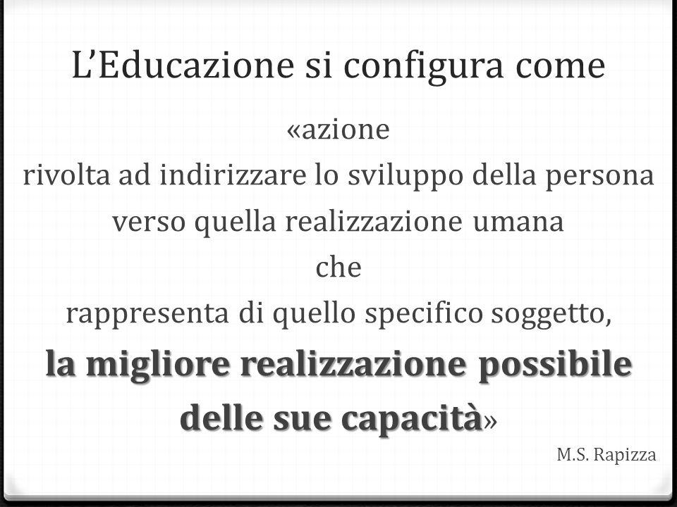 L'Educazione si configura come