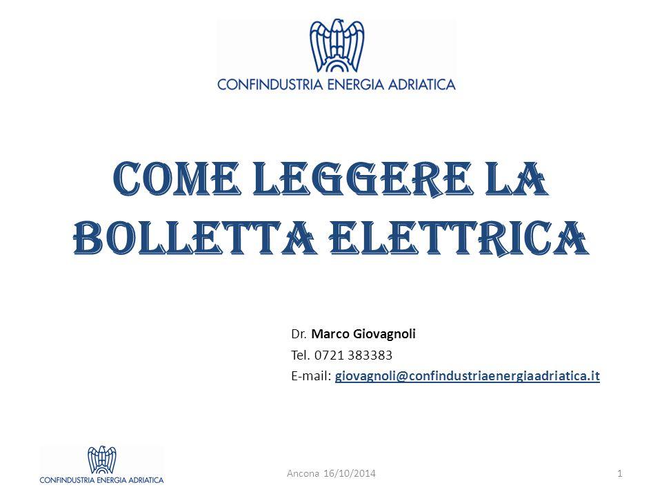 COME LEGGERE LA BOLLETTA ELETTRICA