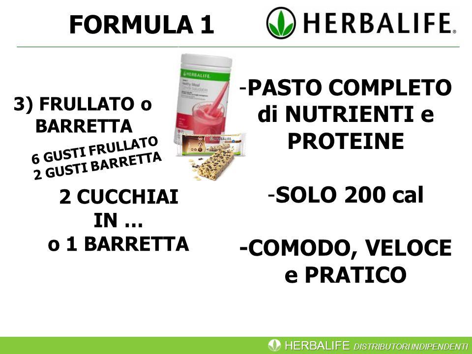FORMULA 1 PASTO COMPLETO di NUTRIENTI e PROTEINE SOLO 200 cal