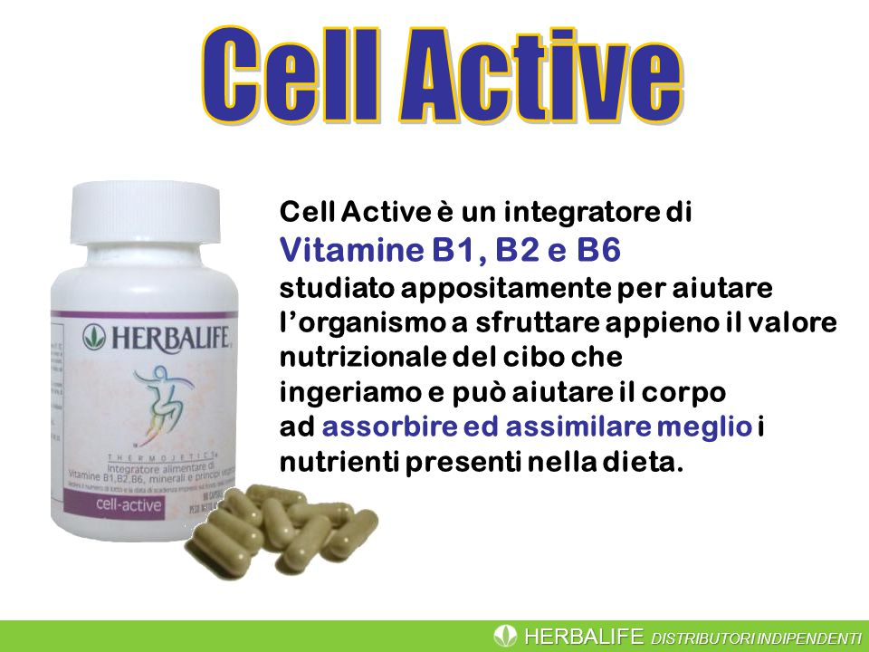 Cell Active Vitamine B1, B2 e B6 Cell Active è un integratore di