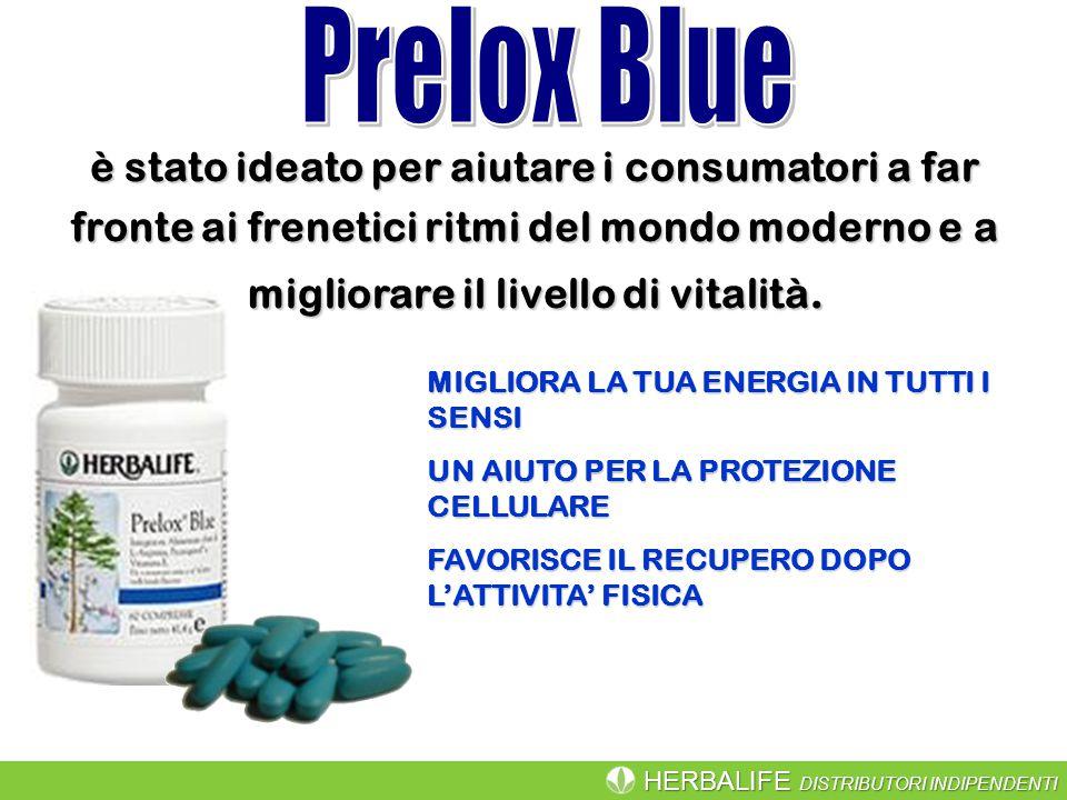 Prelox Blue è stato ideato per aiutare i consumatori a far fronte ai frenetici ritmi del mondo moderno e a migliorare il livello di vitalità.