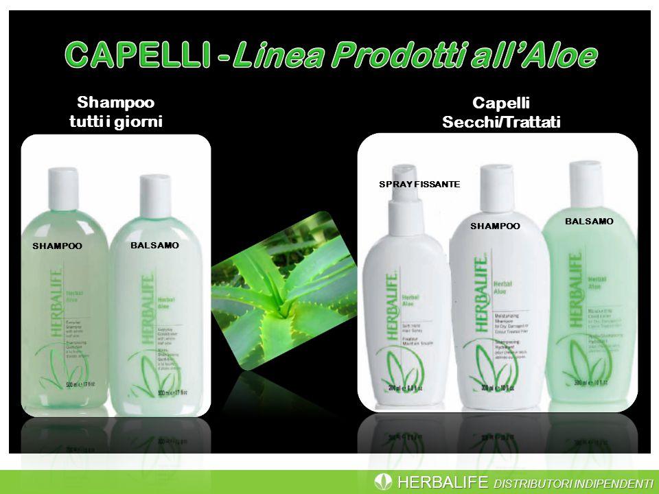 CAPELLI -Linea Prodotti all'Aloe