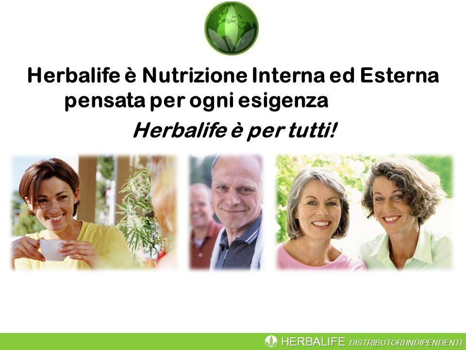 Herbalife è Nutrizione Interna ed Esterna pensata per ogni esigenza