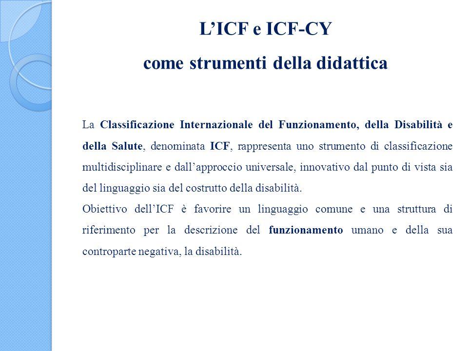 L'ICF e ICF-CY come strumenti della didattica