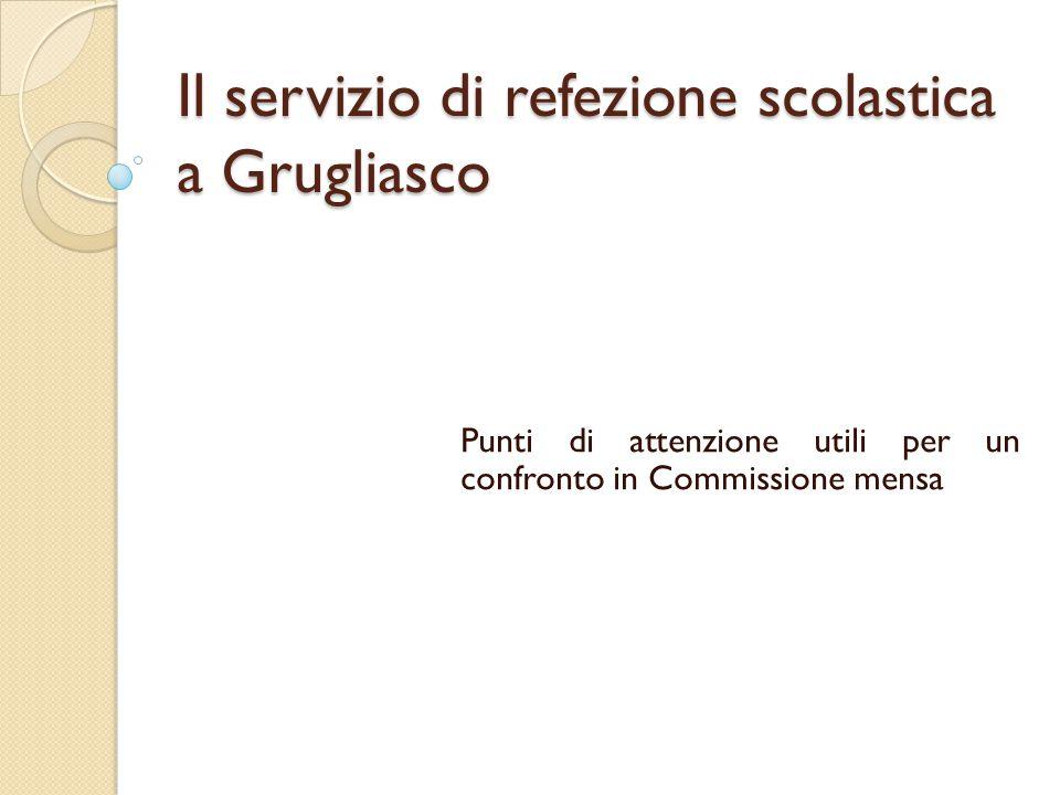 Il servizio di refezione scolastica a Grugliasco