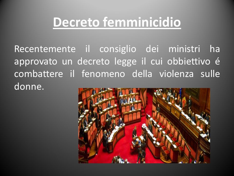 Decreto femminicidio