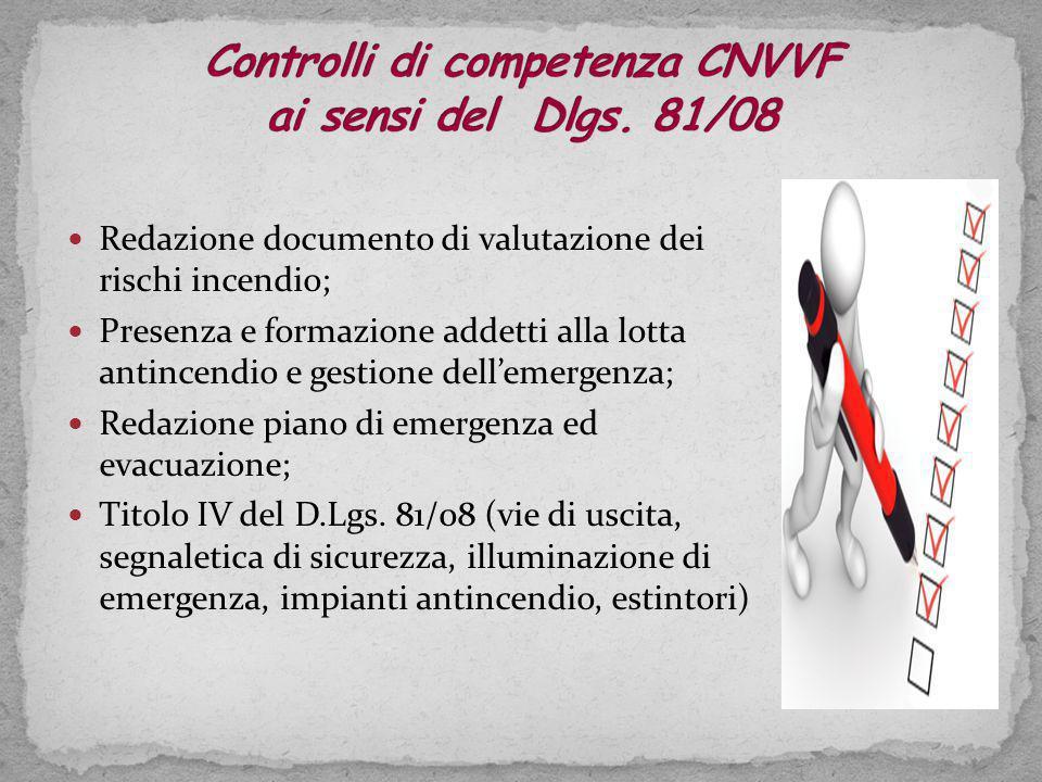 Controlli di competenza CNVVF