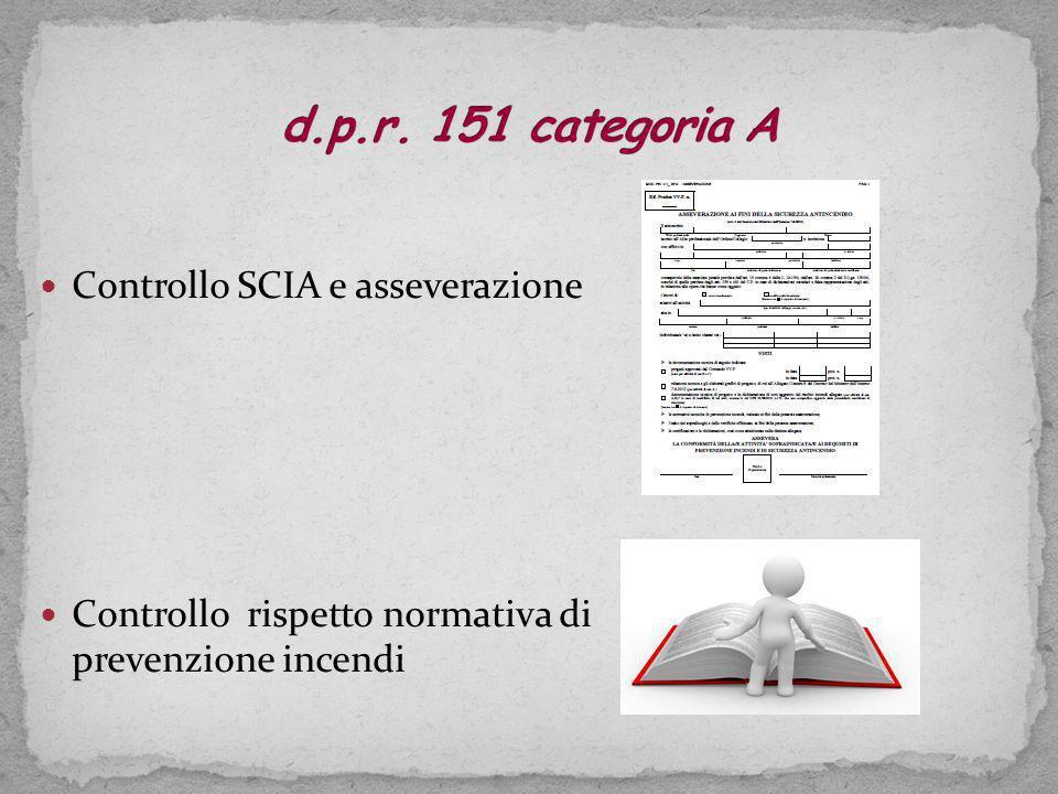 d.p.r. 151 categoria A Controllo SCIA e asseverazione