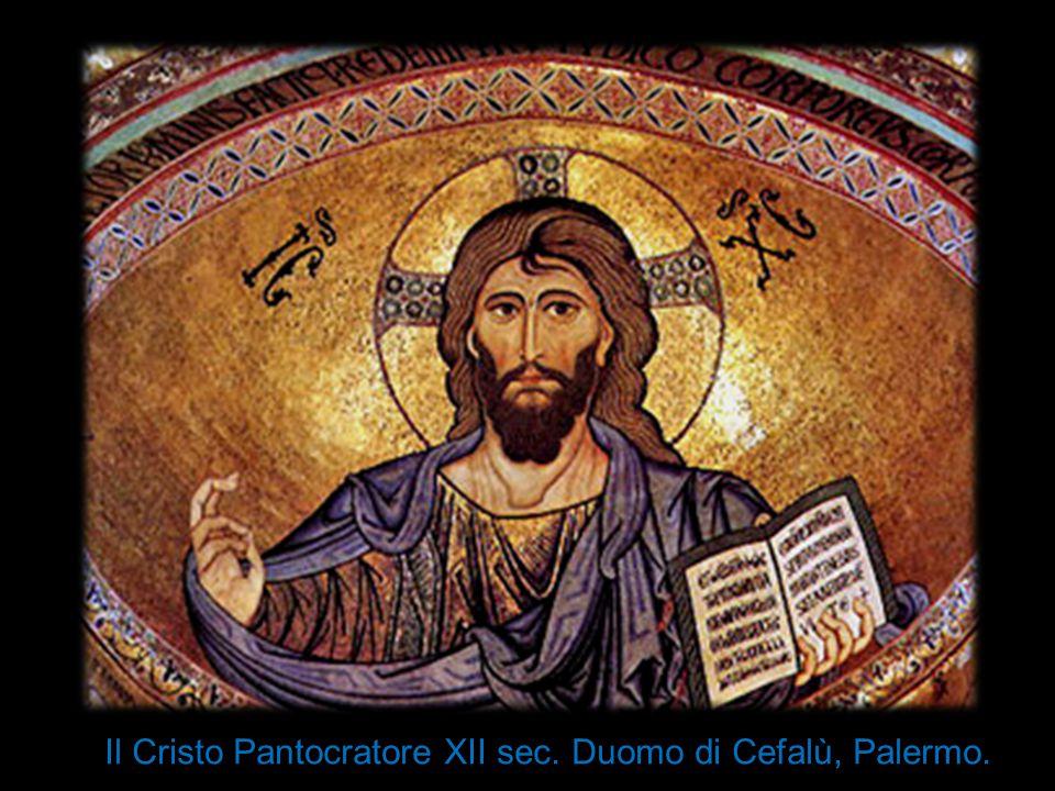 Il Cristo Pantocratore XII sec. Duomo di Cefalù, Palermo.